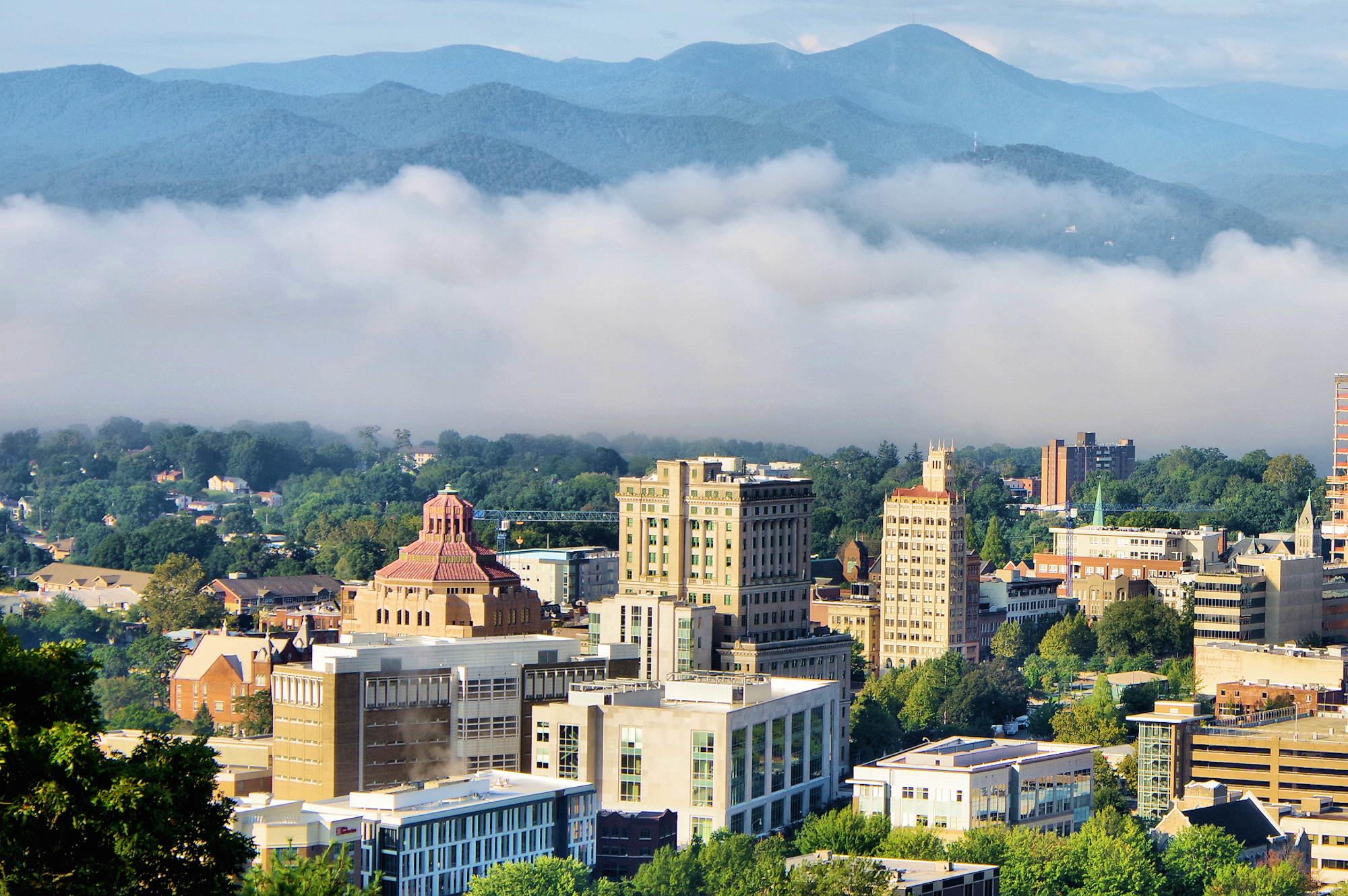 Downtown Asheville Mountains